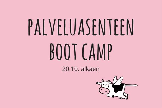 Palveluasenteen Boot Camp alkaa 20.10.